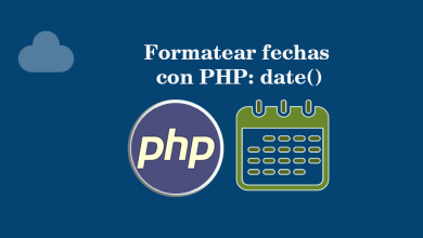 Formatear fechas con PHP date