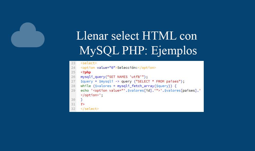 Llenar select HTML con MySQL PHP: Ejemplos » BaulPHP