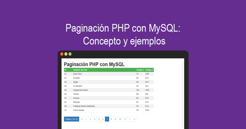 Photo of Paginación PHP con MySQL: Concepto y ejemplos