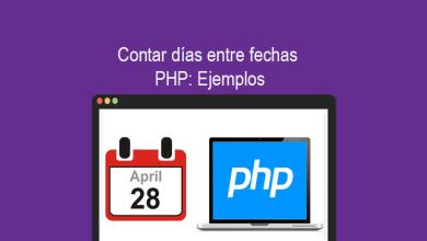 Contar días entre fechas PHP Ejemplos