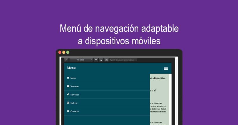 Menú de navegación adaptable a dispositivos móviles