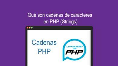 Qué son cadenas de caracteres en PHP