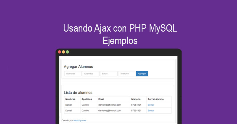 Usando Ajax con PHP MySQL