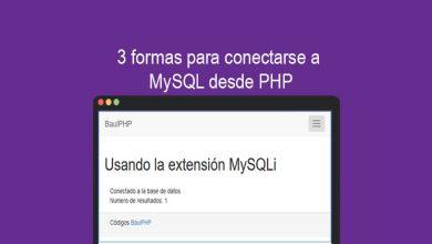 3 formas para conectarse a MySQL desde PHP