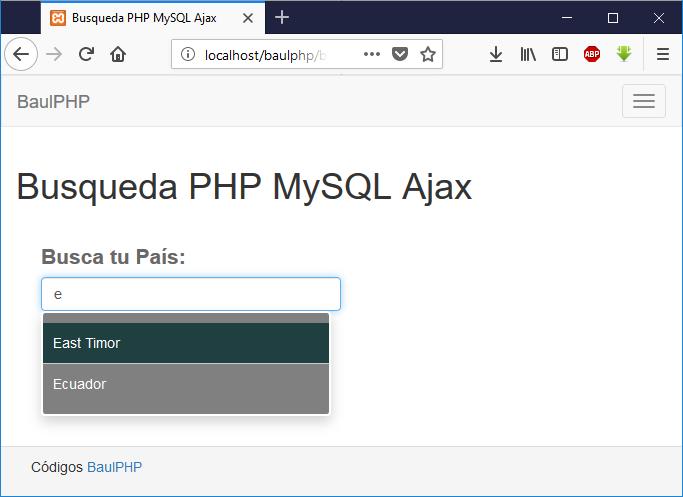 Descargar autocompletar con bootstrap PHP MySQL