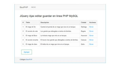JQuery Ajax CRUD PHP MySQL