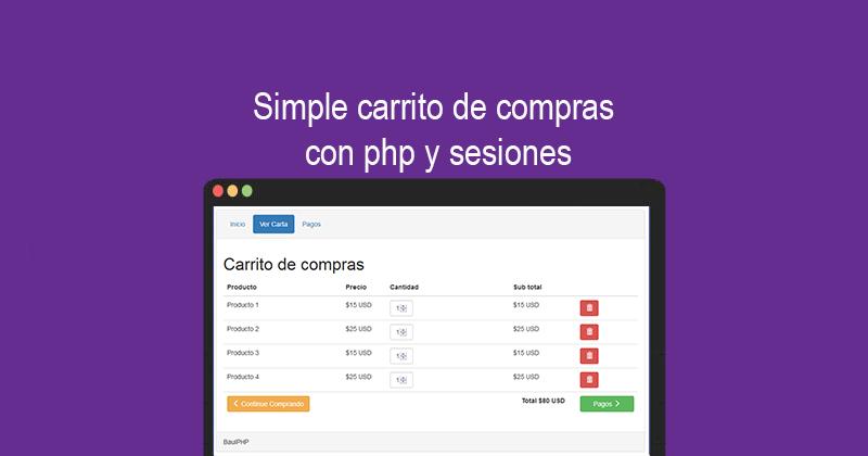 Simple carrito de compras con php y sesiones