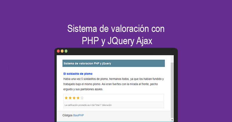 Photo of Sistema de valoración con PHP y JQuery Ajax