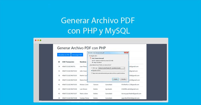 Photo of Crear archivos en PDF con PHP MySQLi