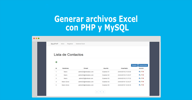 Photo of Generar archivos Excel con PHP y MySQL