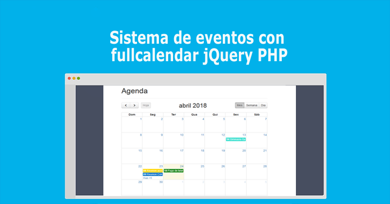 Photo of Sistema de eventos con fullcalendar jQuery PHP