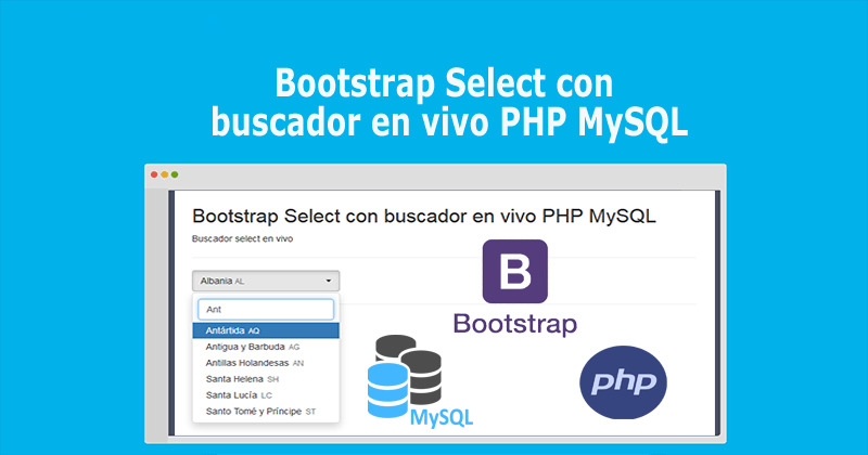 Photo of Bootstrap Select con buscador en vivo PHP MySQL