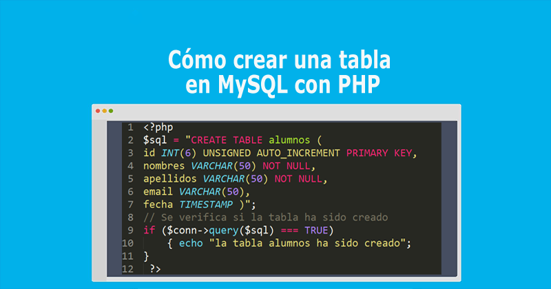 Photo of Cómo crear una tabla en MySQL con PHP