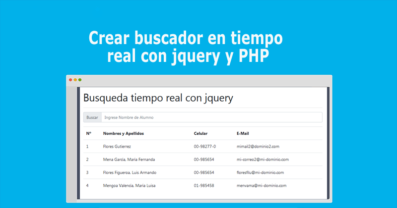 Photo of Crear buscador en tiempo real con jQuery y PHP