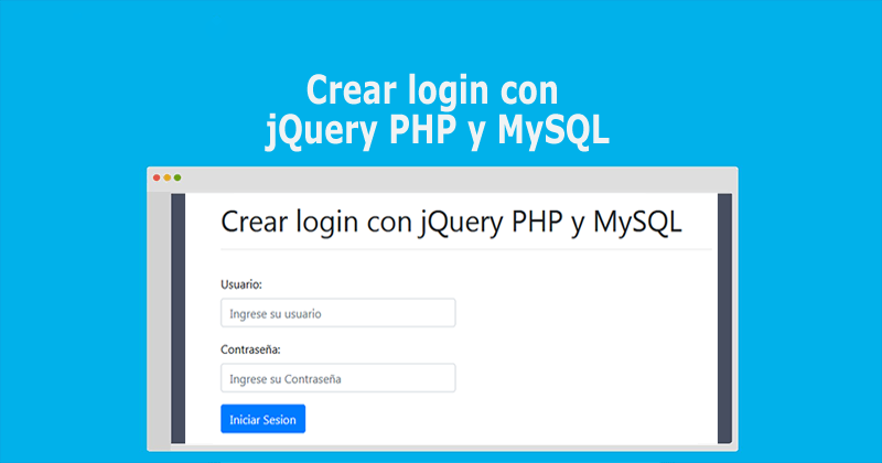 Photo of Crear login con jQuery PHP y MySQL
