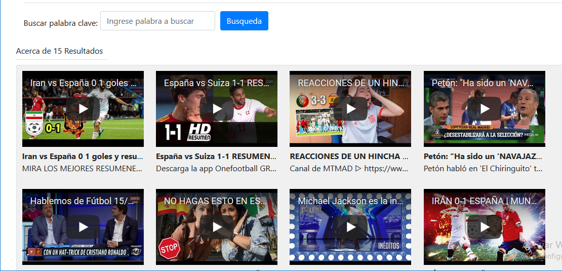 Buscador de videos PHP YouTube API