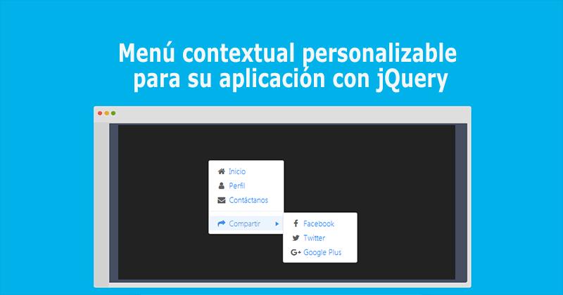 Menú contextual personalizable para su aplicación con jQuery