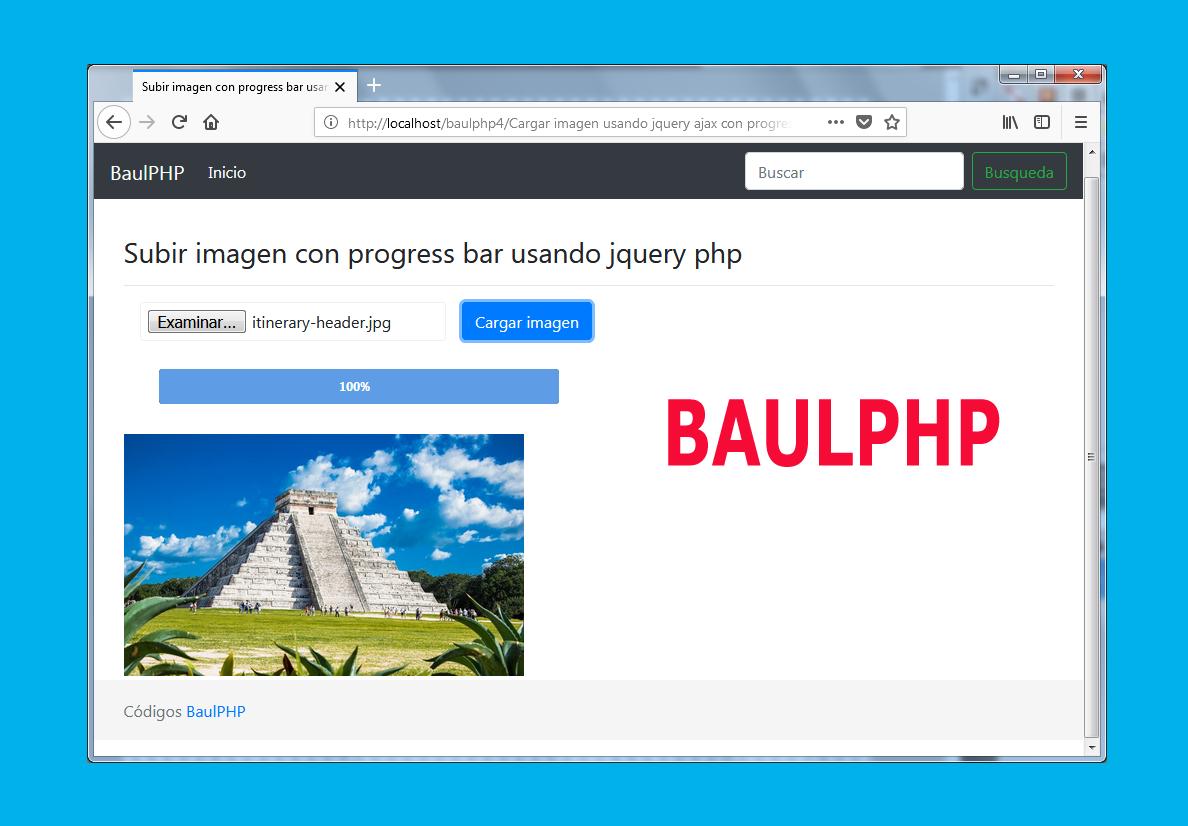 Subir imagen con progress bar usando jquery php
