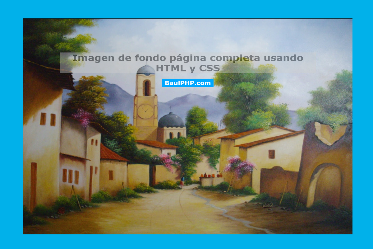 Descargar imagen de fondo FullScreen HTML y CSS