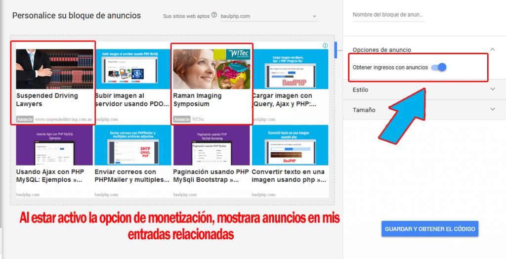 Cómo mostrar entradas relacionadas con anuncios de Google Adsense
