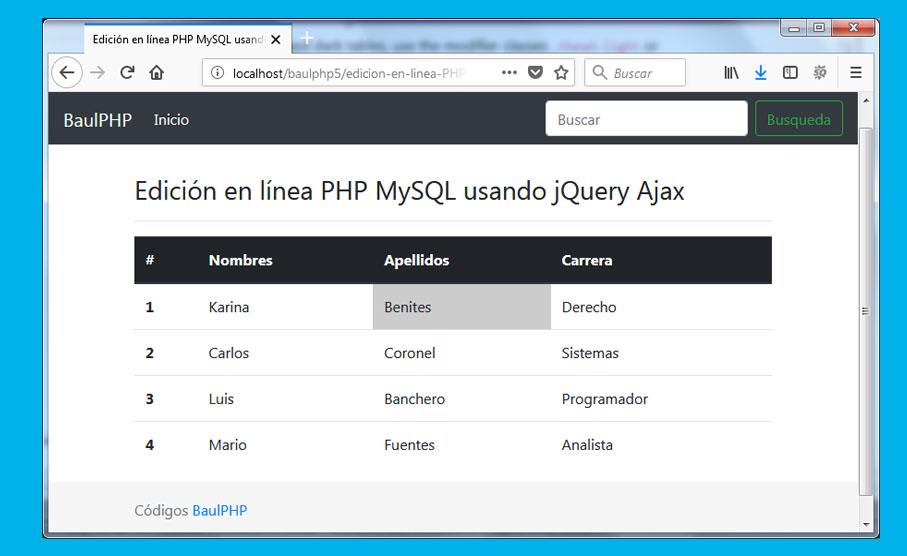 Descargar sistema de edicion en vivo con jQuery & PHP