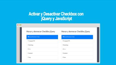 Activar y Desactivar Checkbox con jQuery y JavaScript