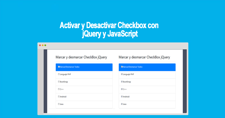 Photo of Activar y Desactivar Checkbox con jQuery y JavaScript