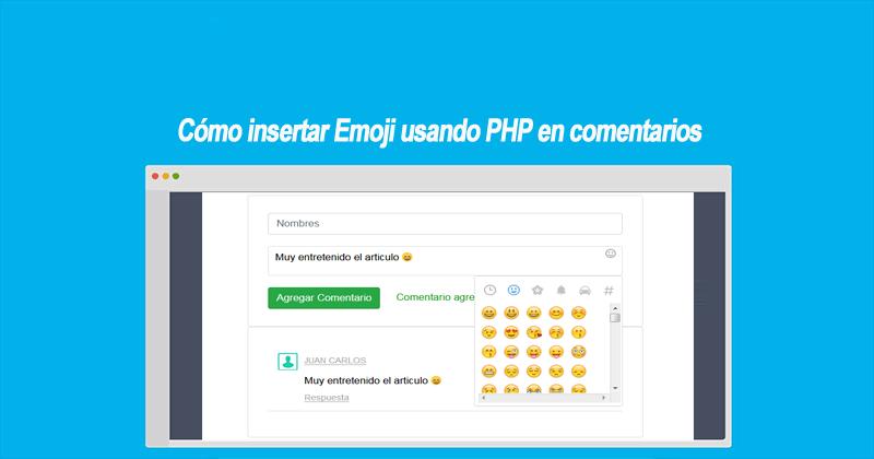 Cómo insertar Emoji usando PHP en comentarios