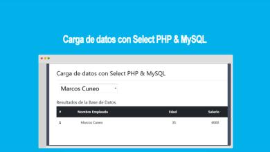 Carga de datos con Select PHP & MySQL