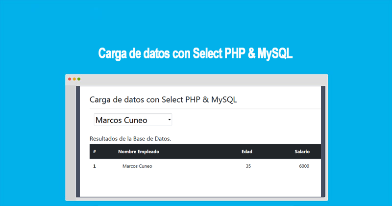 Photo of Carga de datos con Select PHP & MySQL