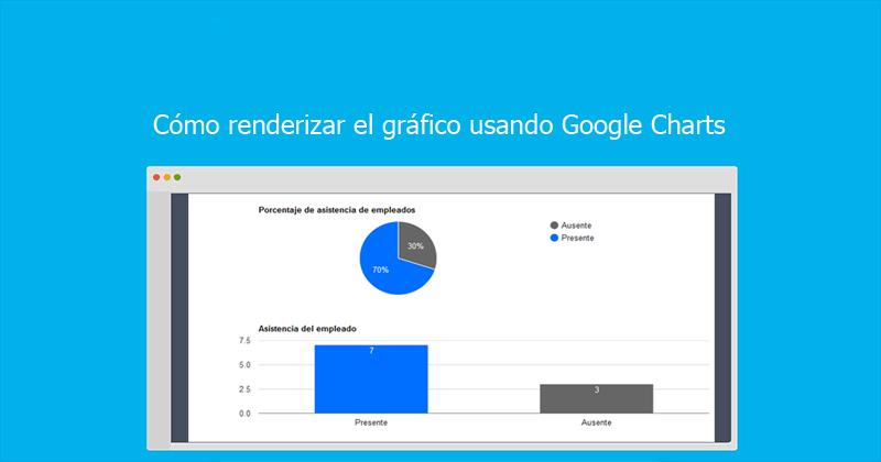 Cómo renderizar el gráfico usando Google Charts