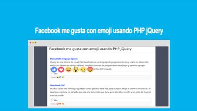 Facebook me gusta con emoji usando PHP jQuery