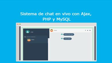 Sistema de chat en vivo con Ajax, PHP y MySQL