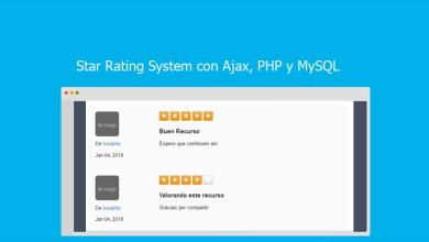 Star Rating System con Ajax, PHP y MySQL