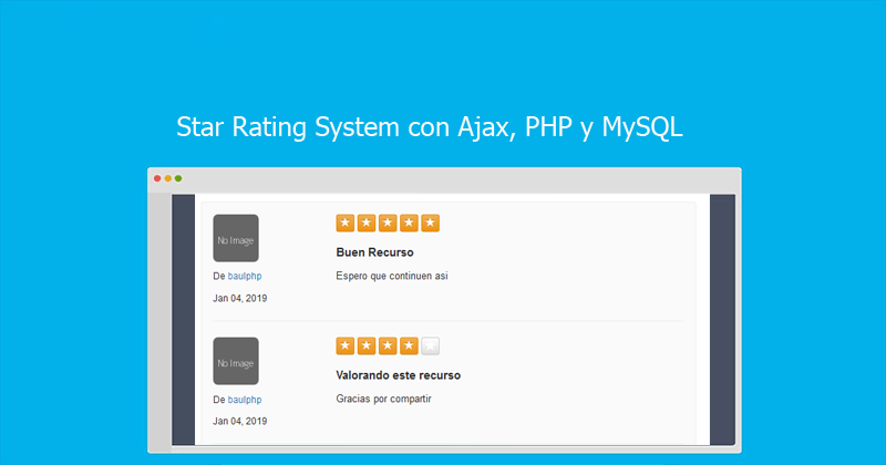 Photo of Star Rating System con Ajax, PHP y MySQL