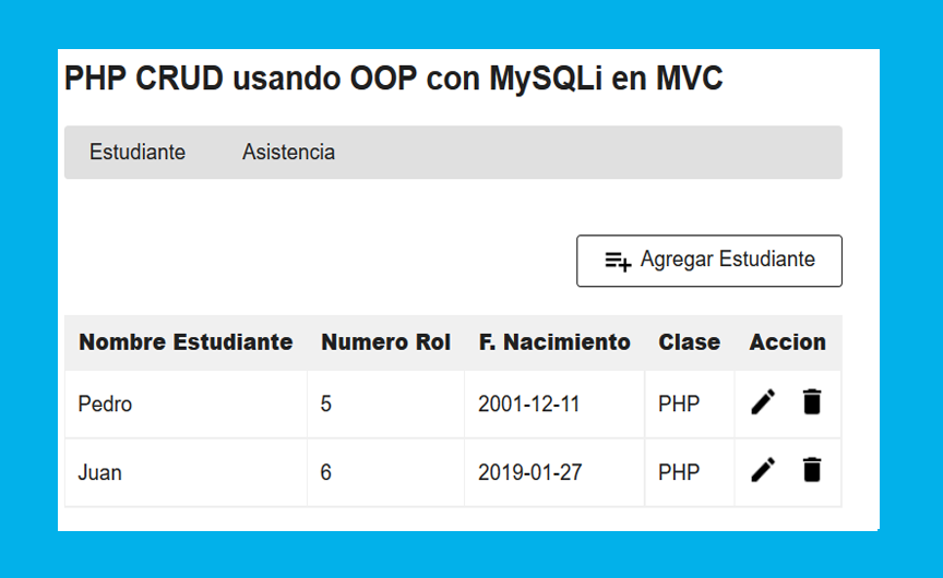 Photo of Descargar PHP CRUD usando OOP con MySQLi