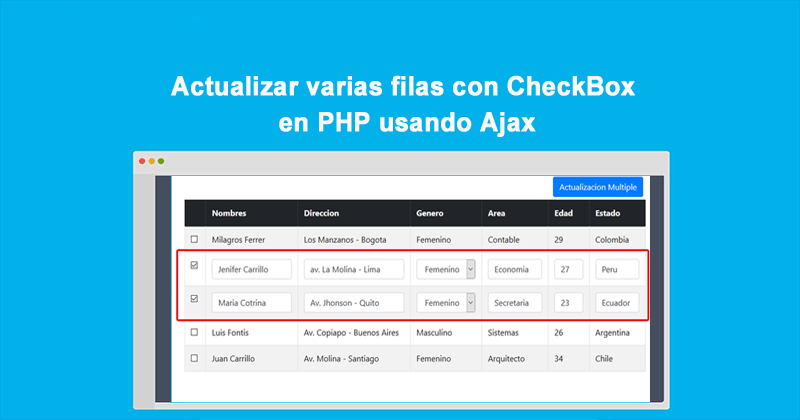 Photo of Actualizar varias filas con CheckBox en PHP usando Ajax