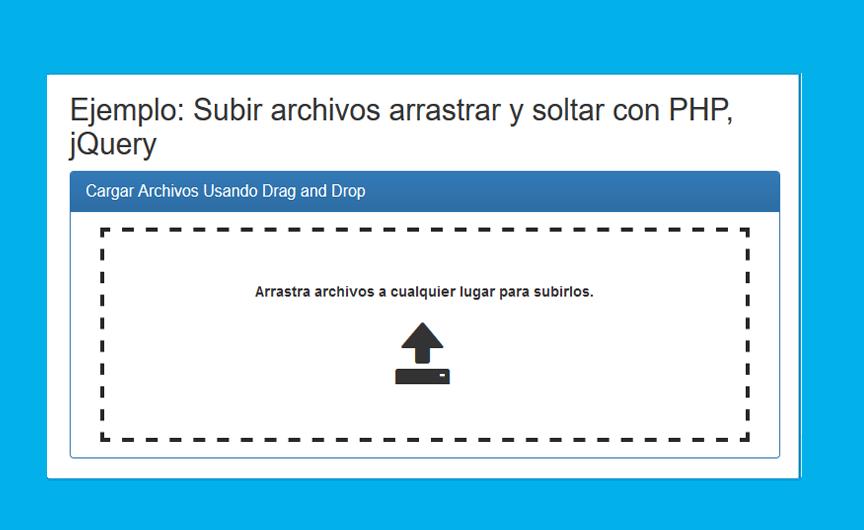 Drag & Drop carga de archivos