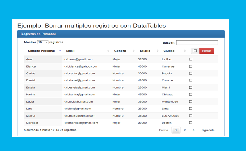 Photo of Eliminar registros DataTables PHP