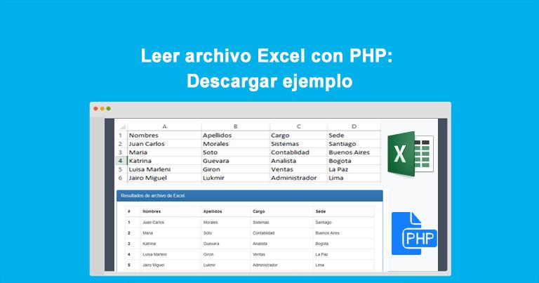 Leer archivo Excel con PHP