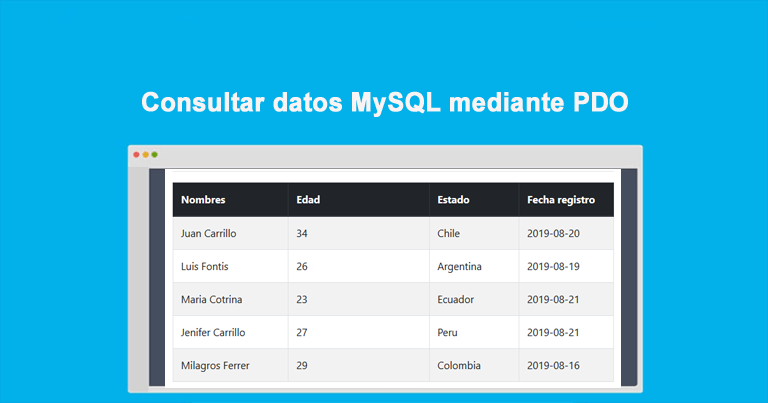 Photo of Consultar datos MySQL mediante PDO: Ejemplos