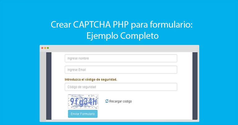 Crear CAPTCHA PHP para formulario