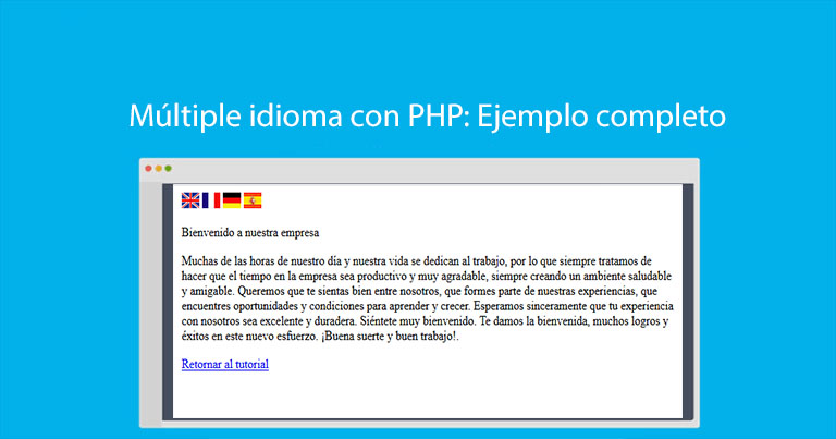 Photo of Múltiple idioma con PHP: Ejemplo completo