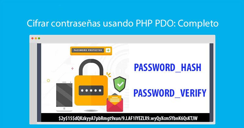 Cifrar contraseñas usando PHP PDO