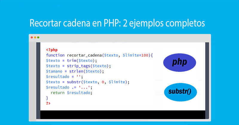 Recortar cadena en PHP