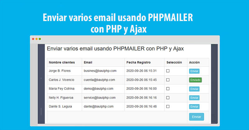 Photo of Enviar multiples emails con PHPMAILER