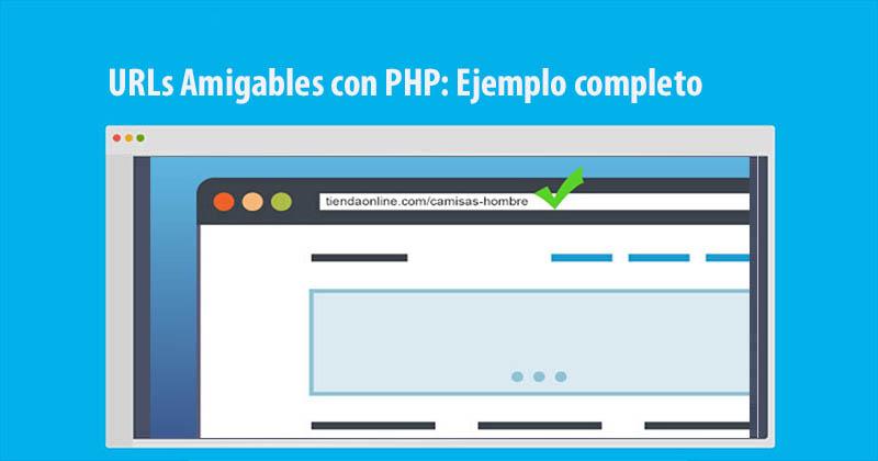 URLs Amigables con PHP: Ejemplo completo con un string
