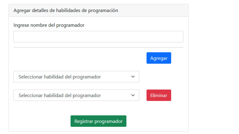 Agregar Eliminar campos HTML dinámicos con JQuery PHP