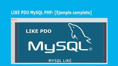 LIKE PDO MySQL PHP [Ejemplo completo]