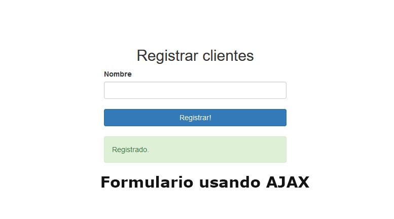 Descargar Ejemplo completo usando AJAX